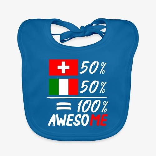 50% Schweiz 50% Italien - Baby Bio-Lätzchen