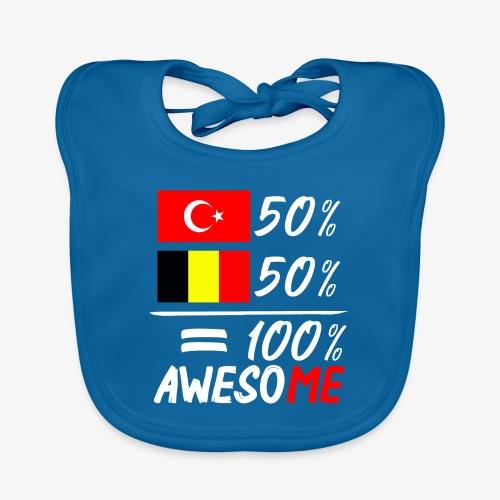 50% Türkisch 50% Belgisch - Baby Bio-Lätzchen