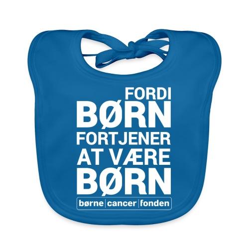 born_fortjener_at_vaere_born_hvid_alternativ - Baby økologisk hagesmæk