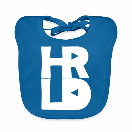 HRLD White Logo - Vauvan luomuruokalappu