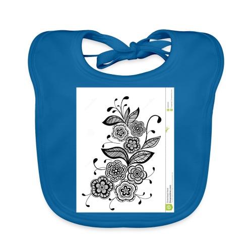 diseño de flores - Babero de algodón orgánico para bebés
