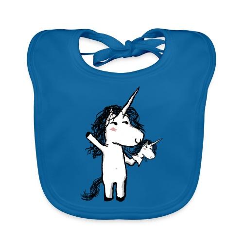 Unicorno con il suo felice amico - Bavaglino