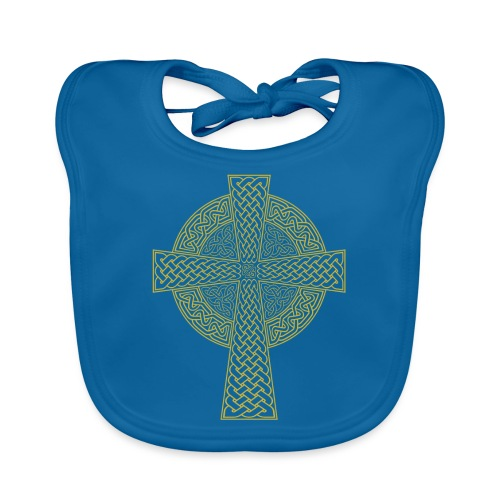 Celtic Cross - Baby Organic Bib