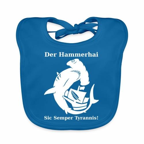 hammerhai weiß - Baby Bio-Lätzchen