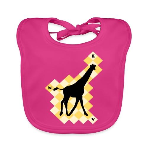 GiraffeSquare - Vauvan luomuruokalappu