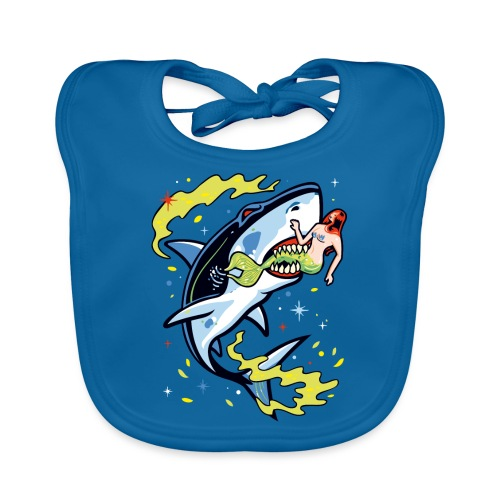 Requin mangeur de sirène - Bavoir bio Bébé