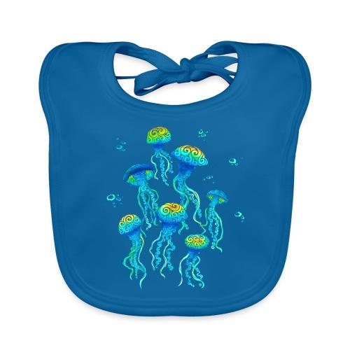 Swirly Jellyfish - Baby Bio-Lätzchen