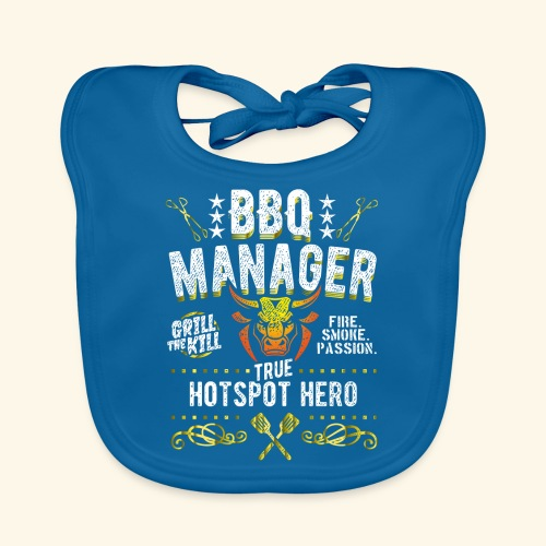 Geschenkidee: Grillshirt BBQ Manager - Baby Bio-Lätzchen