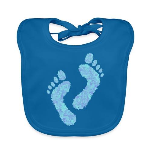 Barefoot on the Beach, Fun Summer Textiles, Gifts - Vauvan luomuruokalappu