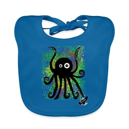 Sweet Octopus by BlackenedMoonArts, with logo - Baby økologisk hagesmæk