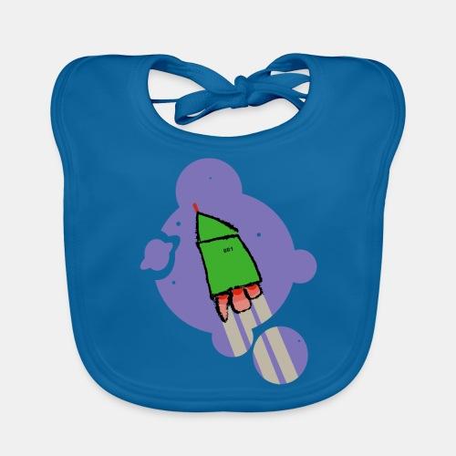 Cohete camiseta pantone - Babero de algodón orgánico para bebés