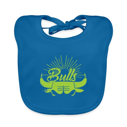 Toros verdes, Bulls BasketBall deporte - Babero ecológico bebé