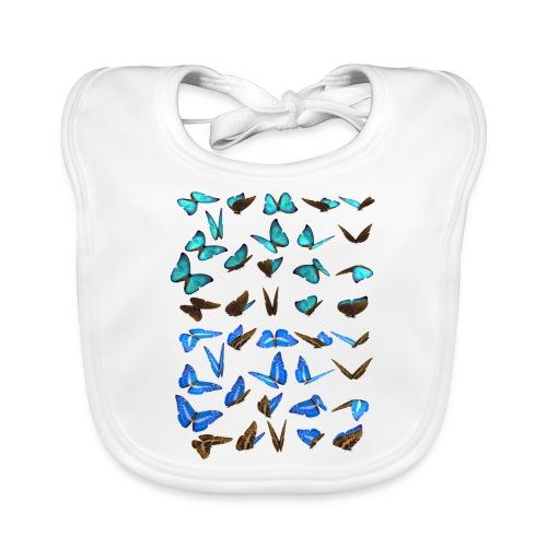 bunte Schmetterlinge - Baby Bio-Lätzchen