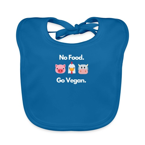 No Food - Go Vegan - Baby Organic Bib
