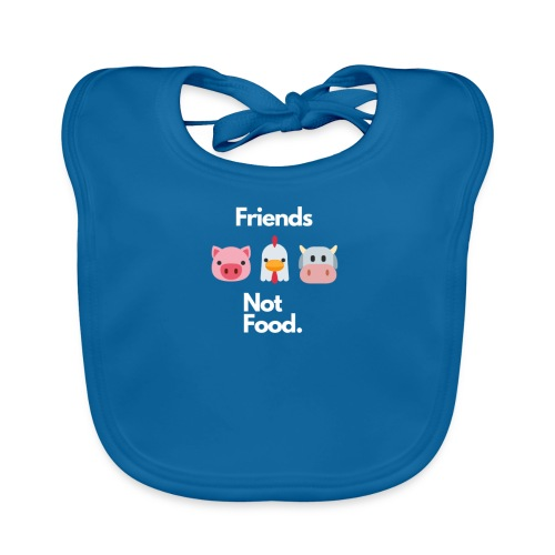 Friends Not Food - Baby Organic Bib