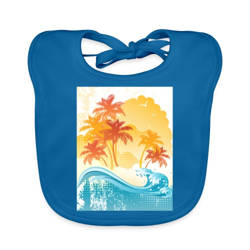 Palm Beach - Baby Organic Bib