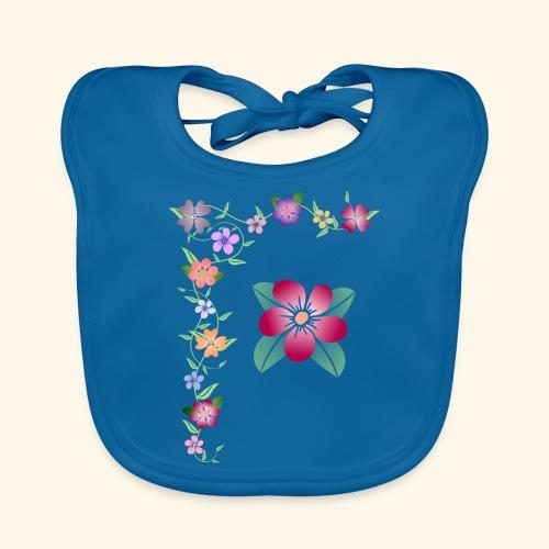 Blumenranke, Blumen, Blüten, floral, blumig, bunt - Baby Bio-Lätzchen