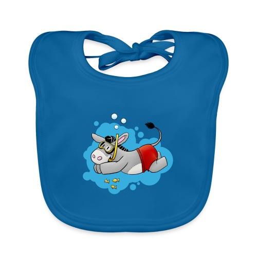Esel - Kuschelesel geht schwimmen - Baby Bio-Lätzchen