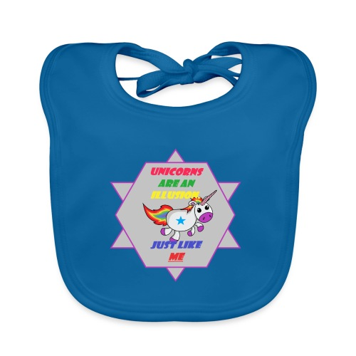 Unicorn with joke - Baby Organic Bib