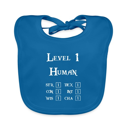 Level 1 Human - Wit - Bio-slabbetje voor baby's