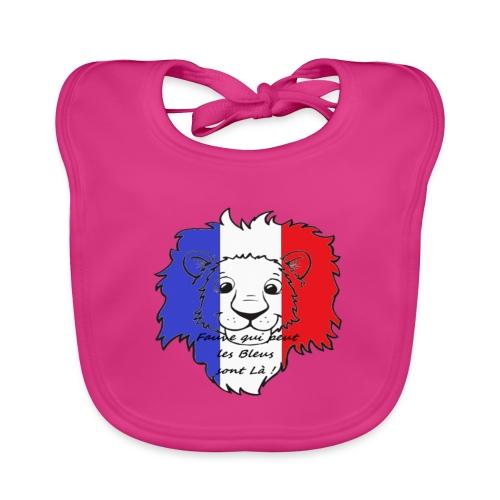 Lion supporter France - Bavoir bio Bébé