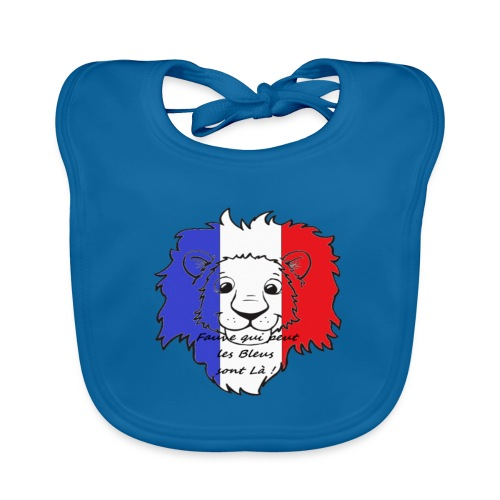Lion supporter France - Bavoir bio Bébé