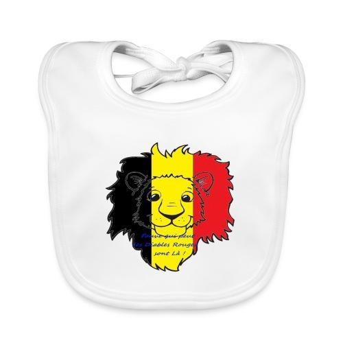 Lion supporter Belgique - Bavoir bio Bébé