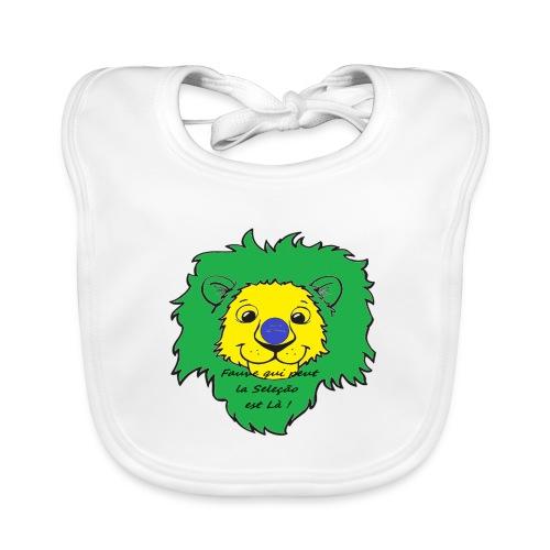 Lion supporter Brésil - Bavoir bio Bébé