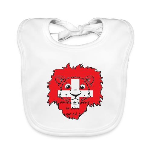 Lion supporter Suisse - Bavoir bio Bébé