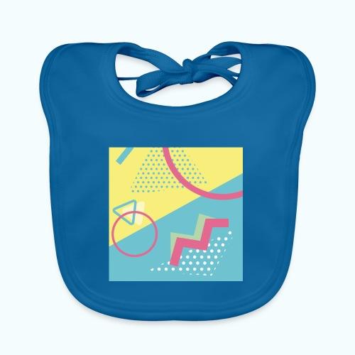 Pastel turquoise geometry - Baby Organic Bib