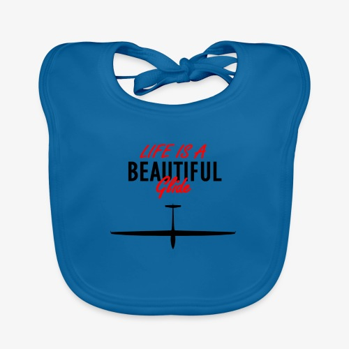 Life is a beautiful glide - Bavoir bio Bébé