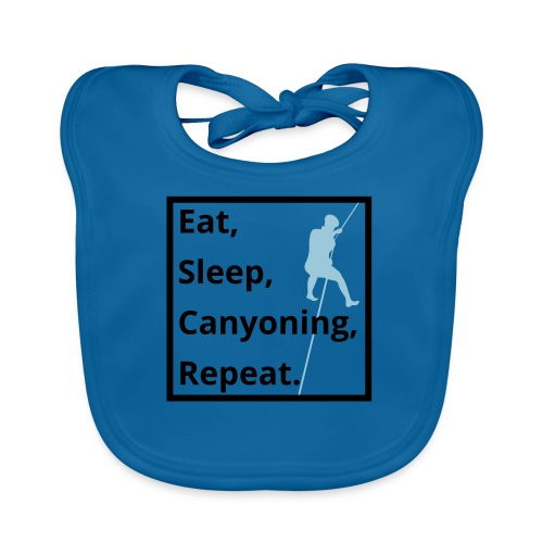 eat sleep canyoning repeat - Baby Bio-Lätzchen