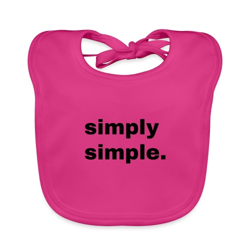 simply simple. Geschenk Idee Simple - Baby Bio-Lätzchen