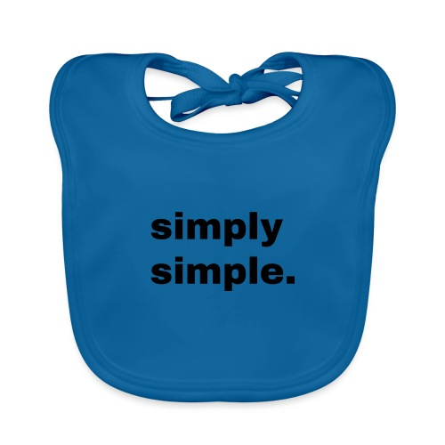 simply simple. Geschenk Idee Simple - Baby Bio-Lätzchen