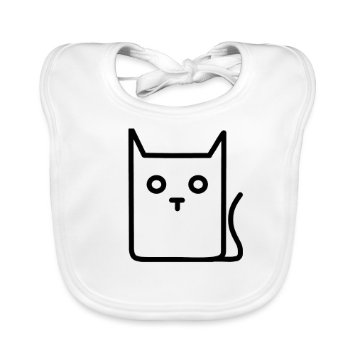 Katze Schwarz - Baby Bio-Lätzchen