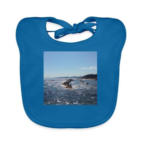 Mer avec roches - Bavoir bio Bébé