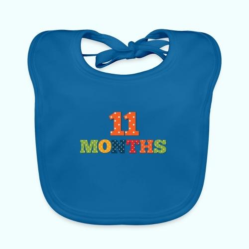 Eleven 11 months old baby age print photo prop - Baby Organic Bib