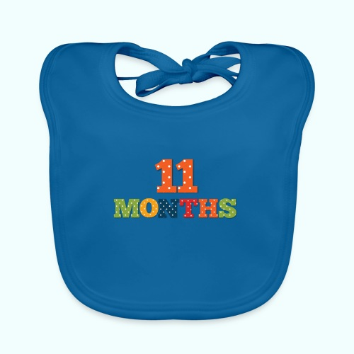 Eleven 11 months old baby age print photo prop - Organic Baby Bibs