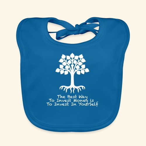 Printed T-Shirt Tree Best Way Invest Money - Bavaglino ecologico per neonato