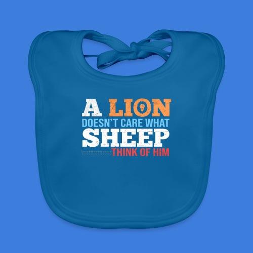 Einen Löwen interessiert nicht, was Schafe denken - Baby Bio-Lätzchen