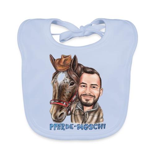 Pferde-Hoschi Kollektion hinten - Baby Bio-Lätzchen