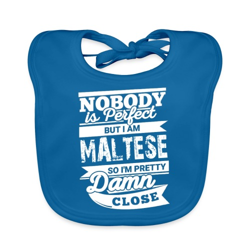 maltese - Ekologisk babyhaklapp