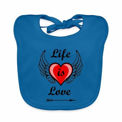 Life is Love - Baby Bio-Lätzchen