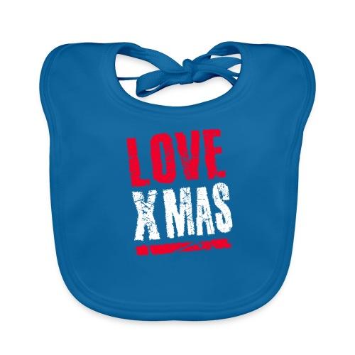 X Mas Love Christmas Weihnachten Geschenk - Baby Bio-Lätzchen
