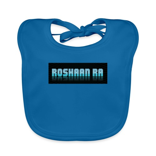 ROSHAANRA BLUE LOGO LIMTED EDITION - Organic Baby Bibs