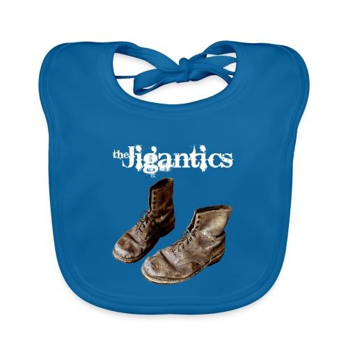 The Jigantics boot logo - white - Organic Baby Bibs
