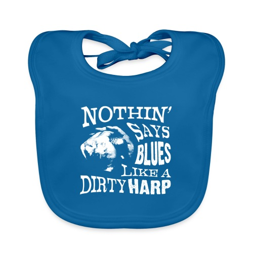 Nothin' Say Blues Like a Dirty Harp #2 - Organic Baby Bibs