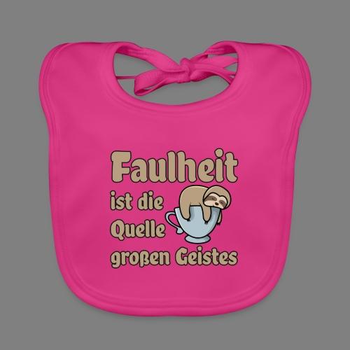 Faulheit - Baby Bio-Lätzchen