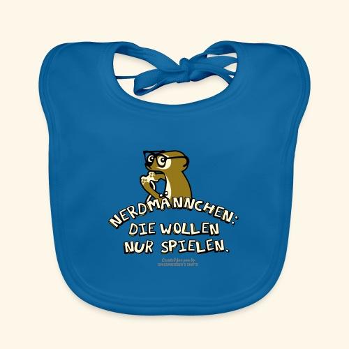 T-Shirt Nerdmännchen Erdmännchen für Geeks & Nerds - Baby Bio-Lätzchen