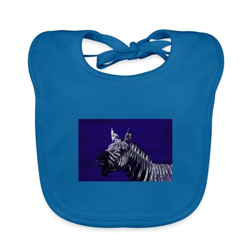 blue zebra - Baby Organic Bib